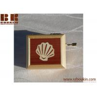 Hot selling handmade customized wooden music box with hand crank