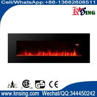 "50"" long linear wall mounted fireplace WF-50FS 2000W real flame comfort smart space heater indoor room decoration"