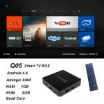 China QINTAIX Hot Amlogic S805 TV Box with Quad Core smart TV box Support H.265 Q05 ITPV channels wholesale