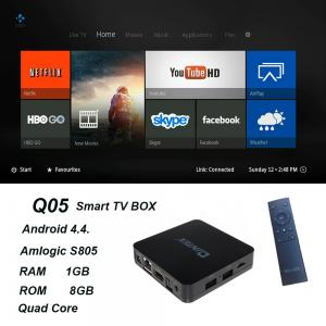 China QINTAIX Hot Amlogic S805 TV Box with Quad Core smart TV box Support H.265 Q05 ITPV channels on sale