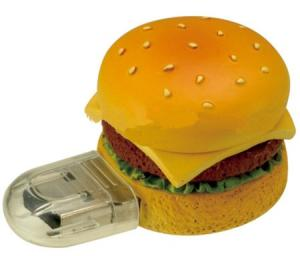 China Hamburger Hinix / Micron original brands Food USB Flash Drive 8G, 16G, 32G (MY-UF02) on sale