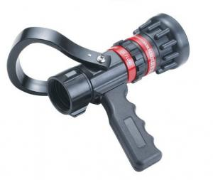 China Flow Aluminum / Brass Fire Hose Nozzle Storz Type With Pistol Grip Adjust on sale