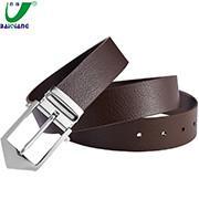 China Custom Logo Printing Designer Large Brown Mens Luxury Leather Dress Formal Belts for Men on sale