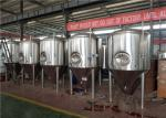 300L 2 Vessels SUS304 Craft Beer Brewing Equipment With Hot Water Tank