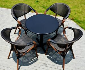 China Wicker patio dining set garden rattan chair outdoor restaurant furniture from China on sale