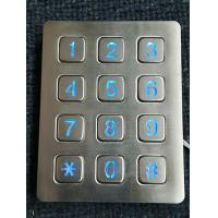 3X4 vandal resistance stainless steel back lighted numeriic keypad