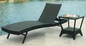 China Sun lounge beach chair garden rattan chaise lounge furniture on sale