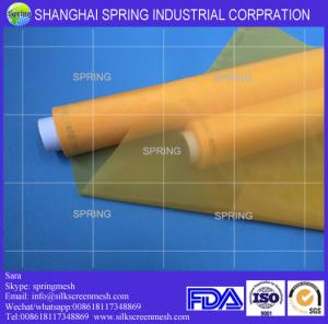 China Screen printing mesh supply/59T Yellow or White/Screen printing mesh on sale