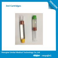 China Pharmaceutical Red Butyl Rubber Glass Cartridge , Local Anesthetic Cartridge on sale