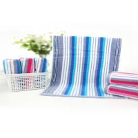 32 Strand Striped Baby Face Washers And Towels , Newborn Baby Towel High Density