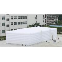 White inflatable outdoor party tent for wedding event
