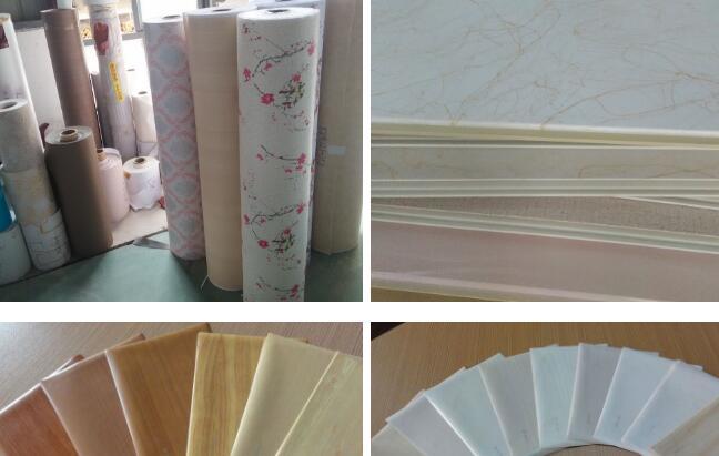 Laminated decorative PVC wall panels profile wrapping laminating machine