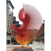 Large Outdoor Metal Sculptures , Iron Garden Sculptures With Size Customized