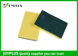 China Various Shape Kitchen Cleaning Pad Cellulose Sponge Scourer Antibacterial on sale