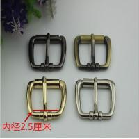 China Superior Custom Handbag Hardware Light Gold 1 Inch Iron Rolled Pin Buckle on sale