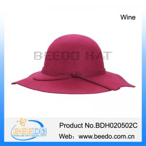 1a687a3f110 ... Quality Wide brim wool bowler formal hats for women made in china for  sale ...