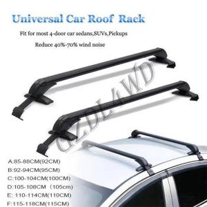 China A - F Style  Black / White Color Roof Rack Bar Aluminum Alloy For 4x4 Offroad Pickup on sale