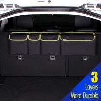 Durable Car Trunk Grocery Organizer , Backseat Trunk Organizer With Lid For SUV Jeep