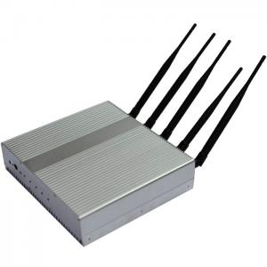 China 5 Band Cell Phone Signal Jamming Device , GSM / GPS Frequency Jammer / Shield / Blocker on sale