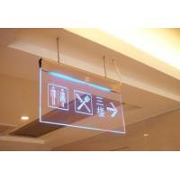 China Hanging Clear acrylic led emergency exit guiding sign board on sale