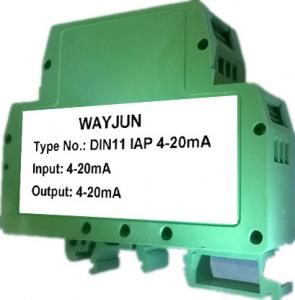 China 4-20mA Passive Signal Isolated Converter  Green DIN rail mounted signal Conditioners on sale