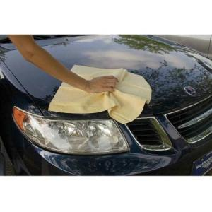 China NATURAL CHAMOIS Leather Car Cleaning Towels Drying Washing Cloth on sale