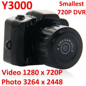 China Y3000 8MP Thumb 720P Mini DVR Camera Smallest Outdoor Sports Spy Video Recorder PC Webcam on sale