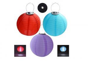 China Hanging 12 Solar Lantern Lamp Rechargeable Nylon Solar Chinese Lanterns on sale
