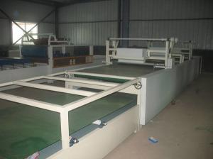 China Fireproof Mgo Composite Door Manufacturing Machines Fiber Cement Door Forming Line on sale