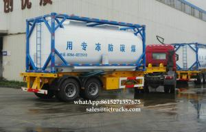 China Portable iso Tank Container 20000L-24000LSolvents, antifreeze Ethylene glycol  WhatsApp:8615271357675  Skype:tomsongking on sale