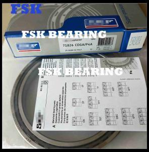 China Germany 71826 CDGA / P4A Ball Bearing Angular Contact , Single Row Spindle Bearing supplier