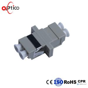China Duplex Fiber Optic Adapters Multi Mode Low Inerstion Loss LC PC PPT ABS Housing on sale