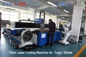 China 380V / 50Hz / 60Hz CNC Fiber Laser Cutting Machine For Tube / Sheet Cutting on sale