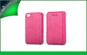 China Chic Hot Pink Folio Design Apple Iphone 4s Leather Cases ,  Waterproof Iphone 4 Case on sale