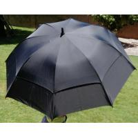 China Durable windproof screen printing promotional parasol double canopy golf umbrella on sale
