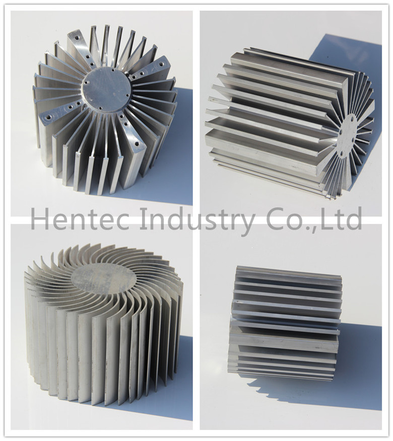 High Precision T4 T5 T6 large extruded Aluminum Heat Sink for machine