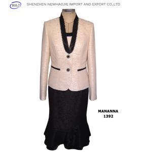 China cheap skirt suit high neck designs for ladies suit on sale