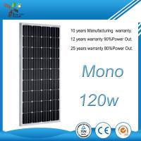 China Strongly Waterproof Solar Panel 120W 12V Corrosion Resistant With New Technology on sale