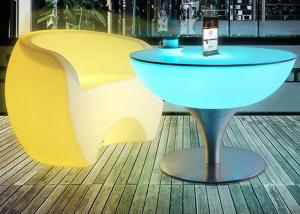 China Portable Plastic LED Cocktail Table Outdoor LED Glowing Bar Led Illuminated Furniture on sale
