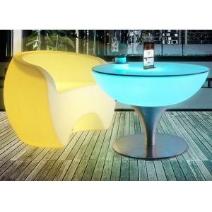China Portable Plastic LED Cocktail Table Outdoor LED Glowing Bar Led Illuminated Furniture on sale