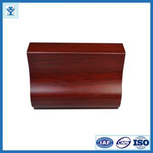 China Wood Color Aluminium Profile for Door Aluminium Door on sale