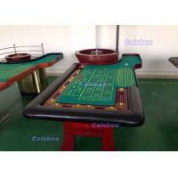 luxury professional roulette wheel wooden table with felt replaceable table cloth