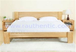 China Cama de madera de los muebles de la ceniza sólida simple, cama individual reciclada de madera sólida para los pares on sale