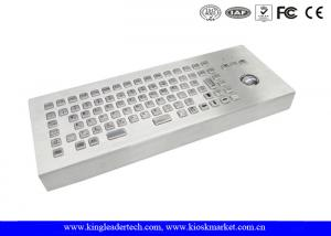China Desktop Stainless Steel Industrial Keyboard With Trackball , Mechanical Trackball Keyboard on sale