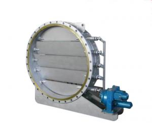 China Round High Performance Butterfly Valves Air Operated Multi Blade High Temperature Resistant on sale