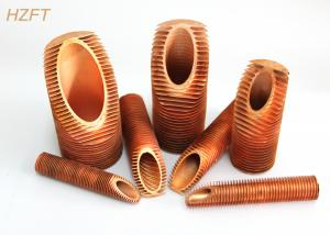 China Hot Water Tanks Low Copper Finned Tube Fitting Vibration Resistance Inner Dia 19.72mm on sale