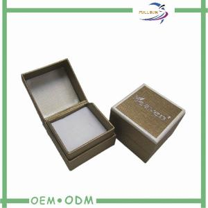 China Square gold gift boxes jewelry With Insert / eco jewellery packaging boxes on sale