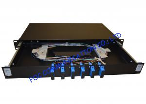 China Singlemode 1U Fibre Optic Patch Panel 12 Ports Full Loaded With SC Pigtail on sale