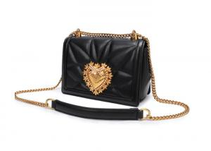 62801265a5 ... Quality Fashion Real Cow Leather Small Square Quilted Bag With Gold  Metal Accessory for sale ...