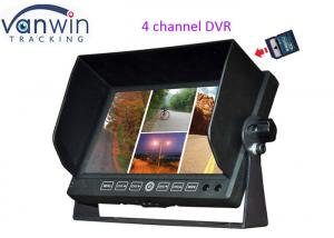 China Car 7 inches 4CH TFT LCD Monitor DVR recording Quad Image With support 32G on sale